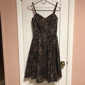 NWOT Leopard Print Audrey Dress